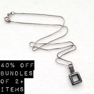 Jewelry - Vintage Sterling Silver Square Necklace
